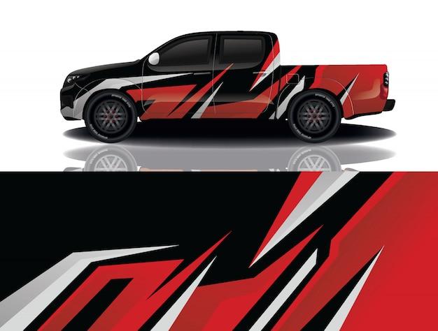 Грузовик автомобиль наклейка Premium векторы