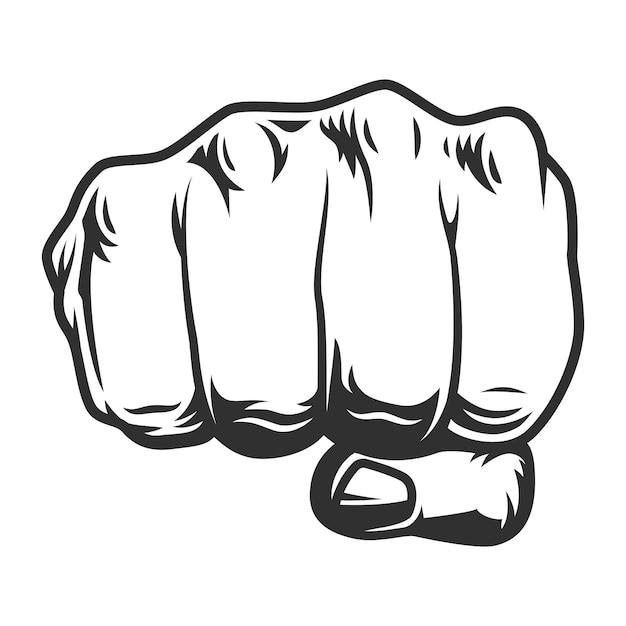 Урожай кулак человека Premium векторы