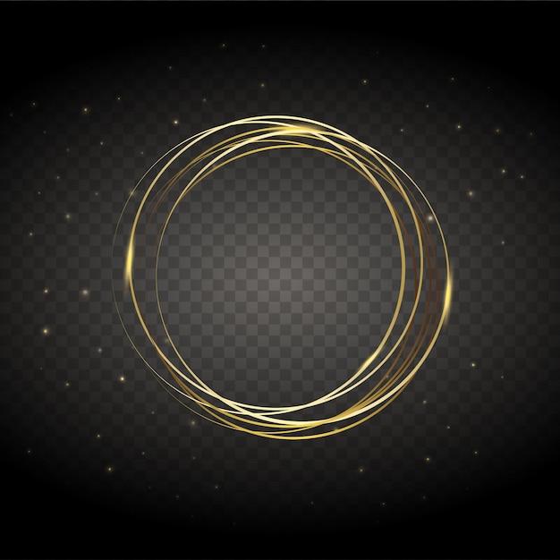 Векторные круглые рамки блестящий круг баннер. Premium векторы