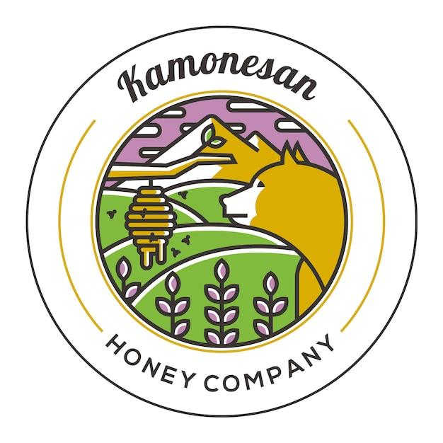 Шаблон логотипа медного медведя Premium векторы
