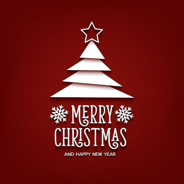 メリークリスマスと新年あけましておめでとうございますレタリングテンプレート。グリーティングカードまたは招待状 Premiumベクター
