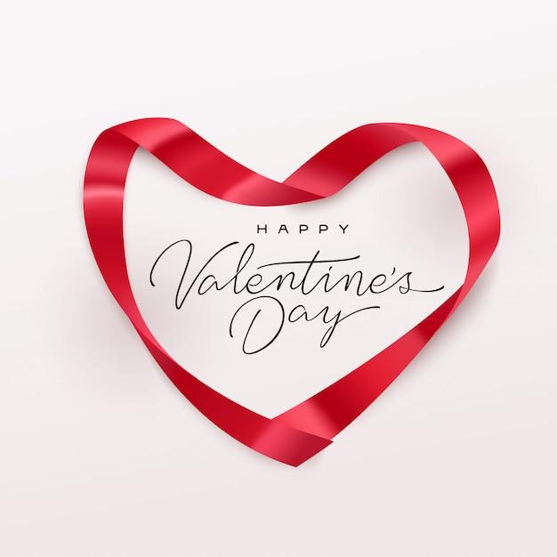 幸せなバレンタインデーのグリーティングカード Premiumベクター