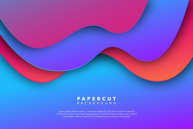 Абстрактный фиолетовый розовый фон бумаги вырезать Premium векторы