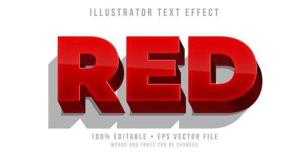 Редактируемый текстовый эффект - жирный красный стиль Premium векторы