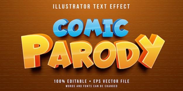 編集可能なテキスト効果-漫画のパロディスタイル Premiumベクター