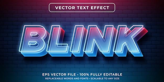 Редактируемый текстовый эффект - неоновые светящиеся огни Premium векторы