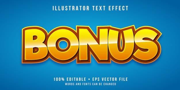 Редактируемый текстовый эффект - бонусный стиль игры Premium векторы