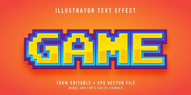 Редактируемый текстовый эффект - стиль игрового пикселя Premium векторы