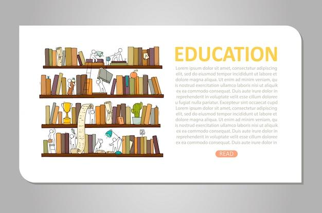 人々のチームワーク、書籍、協力 Premiumベクター
