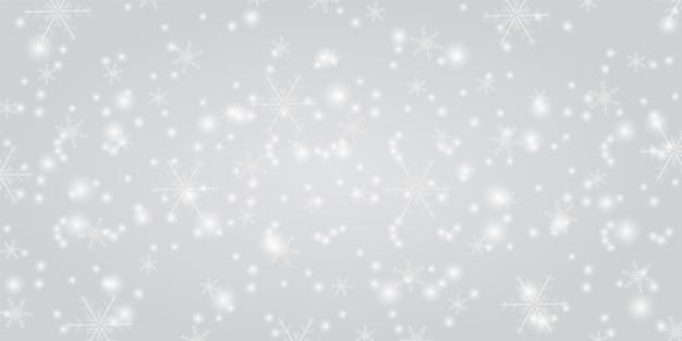 Сияющий снег с новогодним фоном Premium векторы