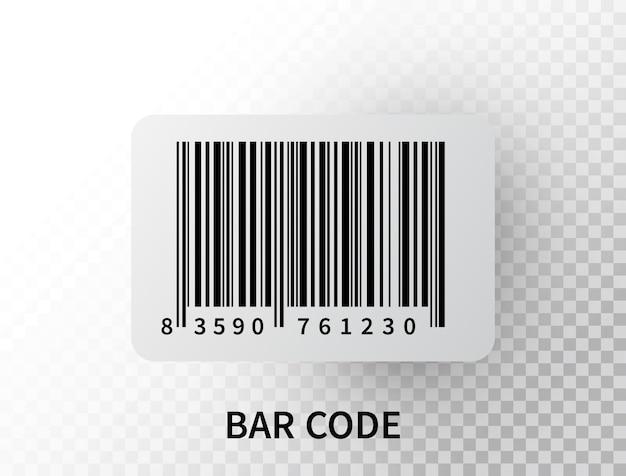 分離された現実的なバーコード。数字付きの黒の追跡バーコード。 Premiumベクター