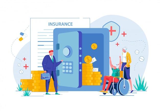高齢者は医療保険でお金を稼ぐ。 Premiumベクター