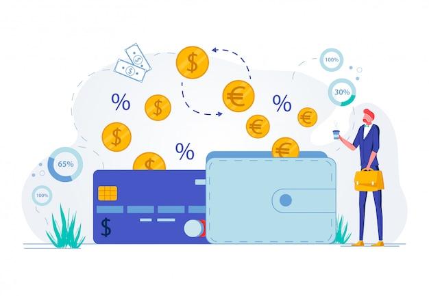 ビジネスの成長、収入の増加、投資。 Premiumベクター