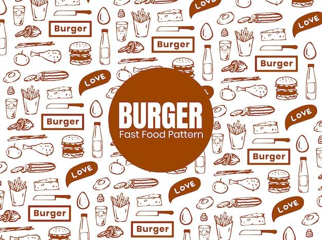 バーガーパターン Premiumベクター