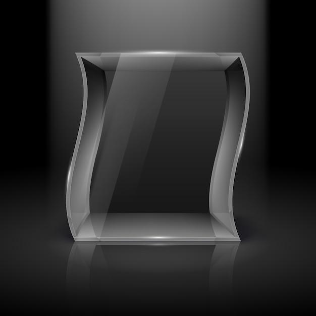 Стеклянная витрина Premium векторы