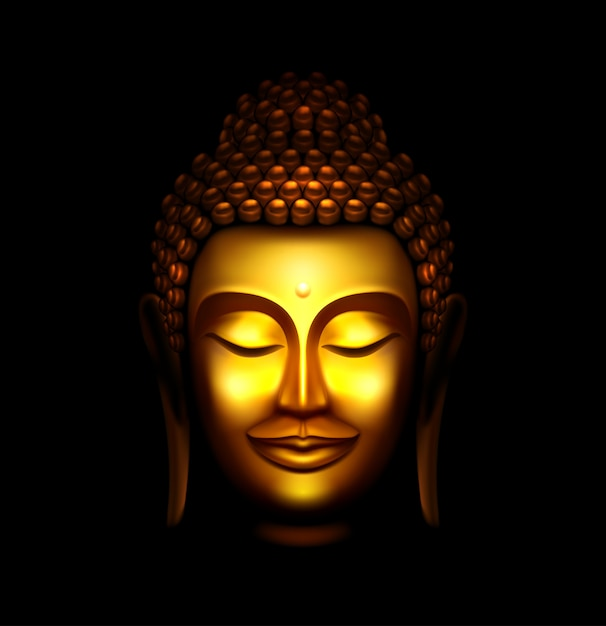 Статуя будды Premium векторы