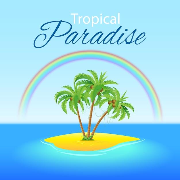 熱帯の風景 Premiumベクター