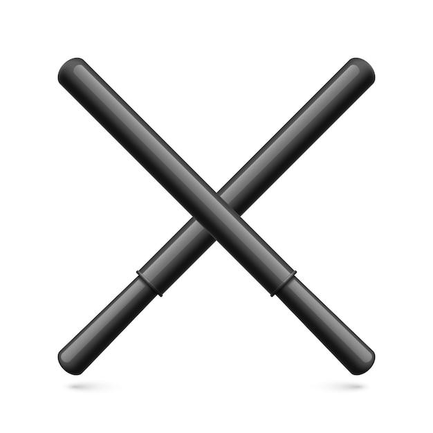 Резиновые дубинки Premium векторы