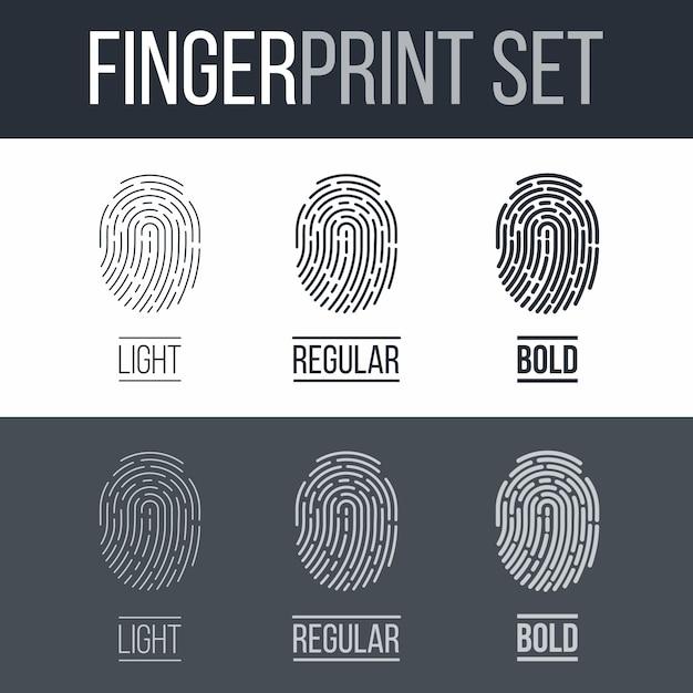 指紋 Premiumベクター