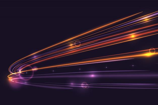 Высокоскоростные огни тропа фон Premium векторы