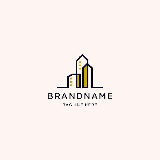 建物のロゴデザインテンプレート Premiumベクター