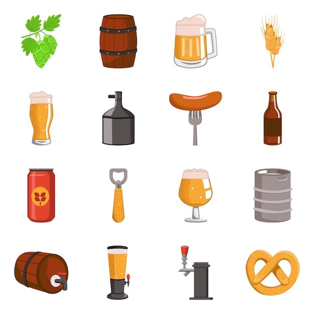 Векторный дизайн логотипа пива и бара. коллекция пива и паб Premium векторы