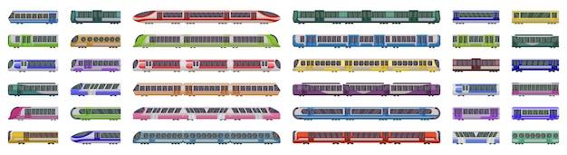 白い背景の地下鉄電車ベクトル図 Premiumベクター