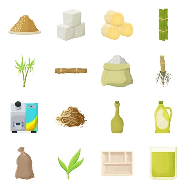 自然と生産のロゴのイラスト。自然と有機のストックイラスト。 Premiumベクター