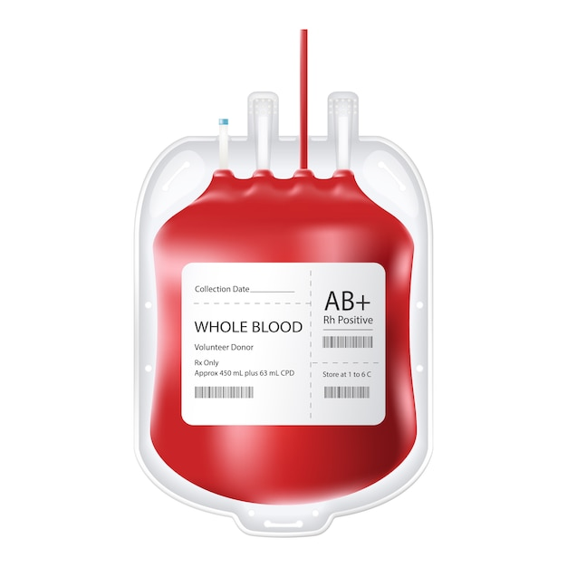 Полный контейнер для крови. Premium векторы