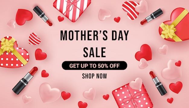 母の日セールバナー Premiumベクター