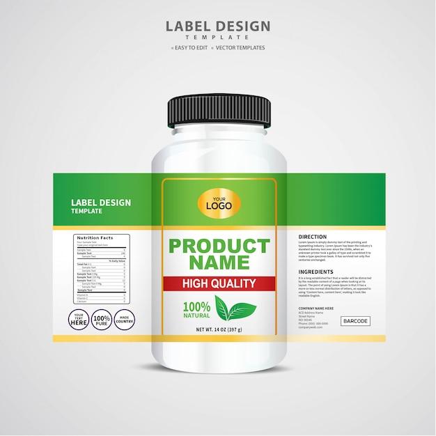 Этикетка для бутылки, дизайн шаблона упаковки, дизайн этикетки, макет шаблона дизайна этикетки Premium векторы