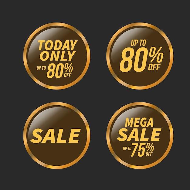 販売と特別オファーバッジセット、ベクトルイラスト。 Premiumベクター