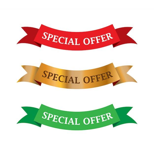 セールおよび特別オファータグ、価格タグ、セールスラベル Premiumベクター