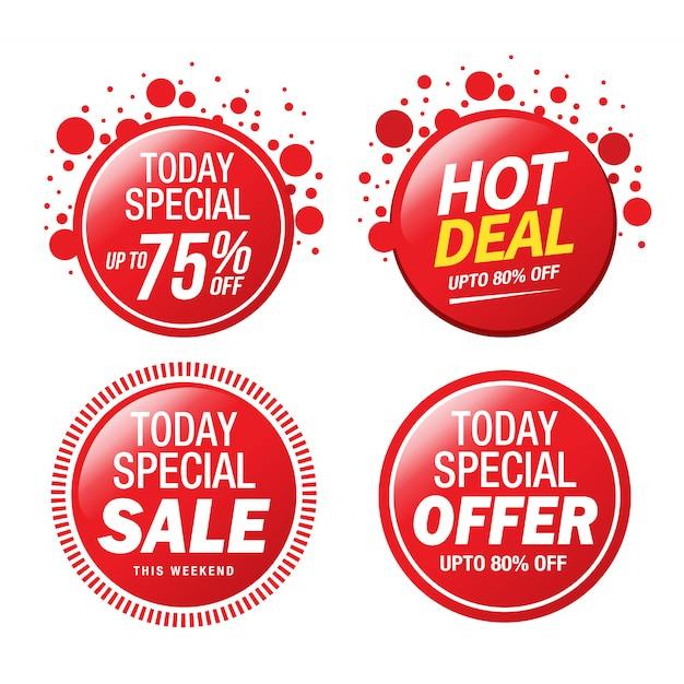 Продажа, специальное предложение и дизайн ценника Premium векторы