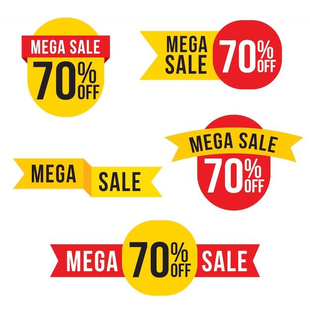 販売、特別オファー、値札ラベルデザイン Premiumベクター