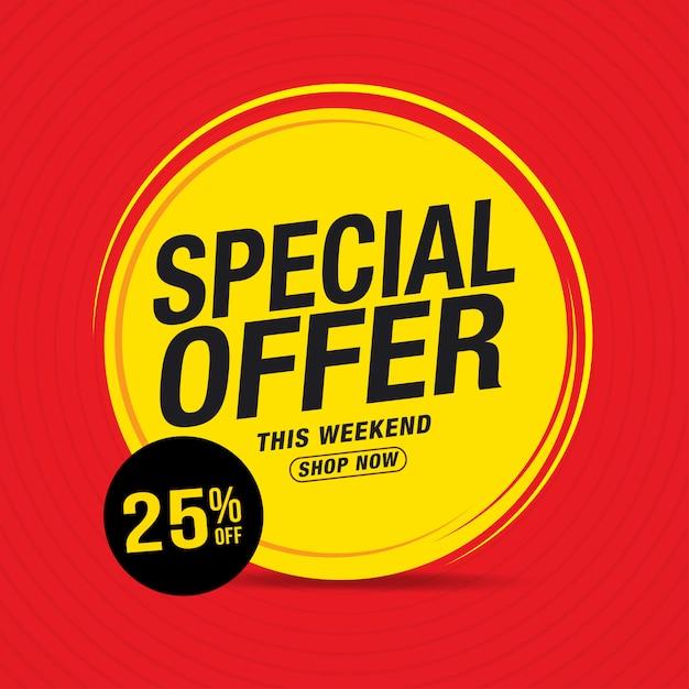 販売および特別オファー販売バナー Premiumベクター