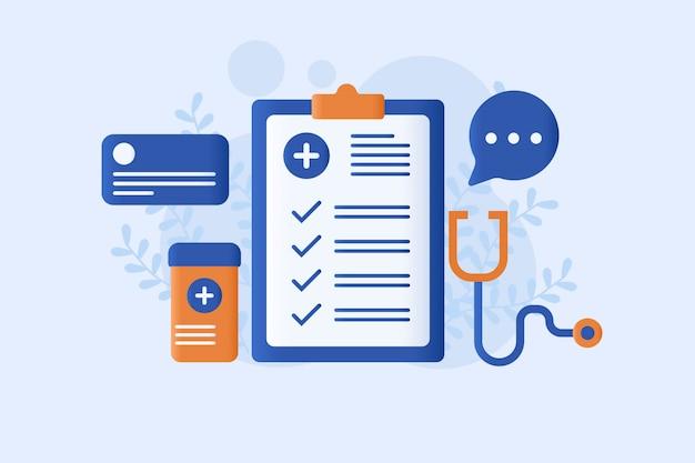 Медицинское страхование векторная иллюстрация Premium векторы