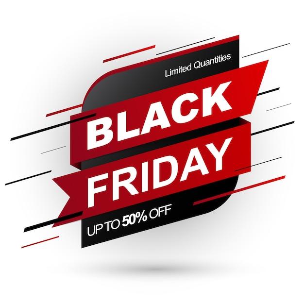 黒い金曜日販売バナー。数量限定 Premiumベクター