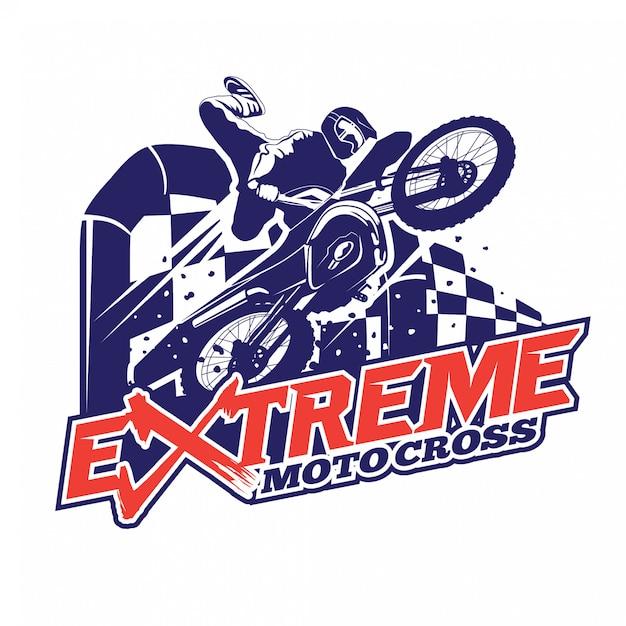 Экстрим спорт мотокросс Premium векторы