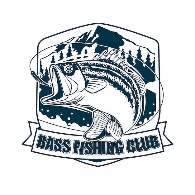 Басс рыболовный клуб Premium векторы