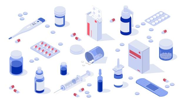 Набор аптечных элементов Premium векторы
