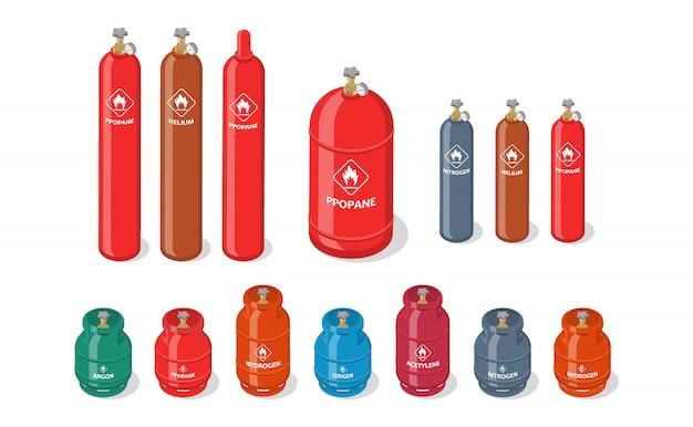 Изометрический набор бензобаков Premium векторы