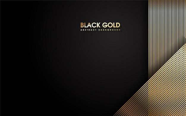 抽象的な薄い金のストライプ。 Premiumベクター