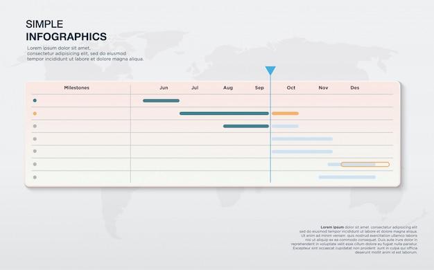 パワーポイントプレゼンテーション用のラベル形式の情報グラフィック。 Premiumベクター