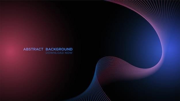 Простой абстрактный фон, прозрачный синий волна темный фон. Premium векторы