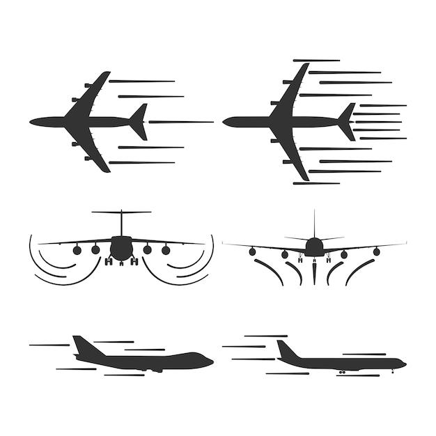 Самолет взлета вектор значок воздушного путешествия Premium векторы