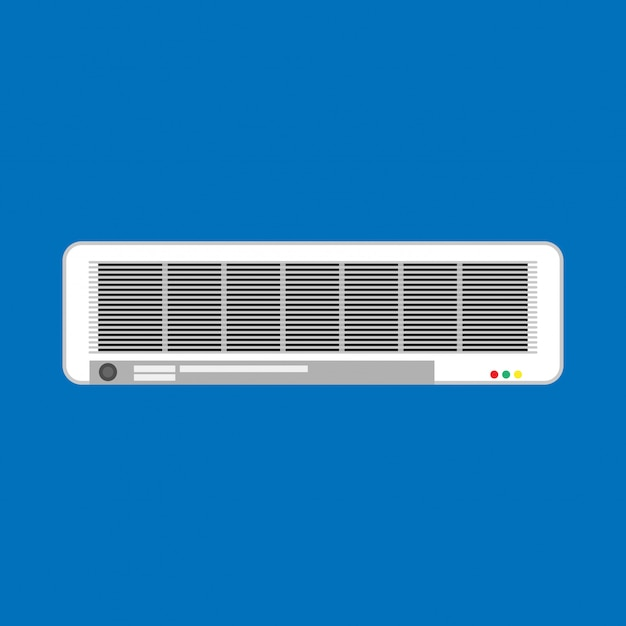Кондиционер сплит климат-контроль белый. изолированная система вентиляции оборудования Premium векторы