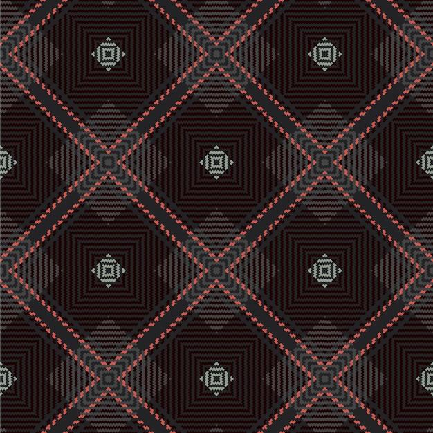 Бесшовные тартан. шотландская тканая текстура. Premium векторы