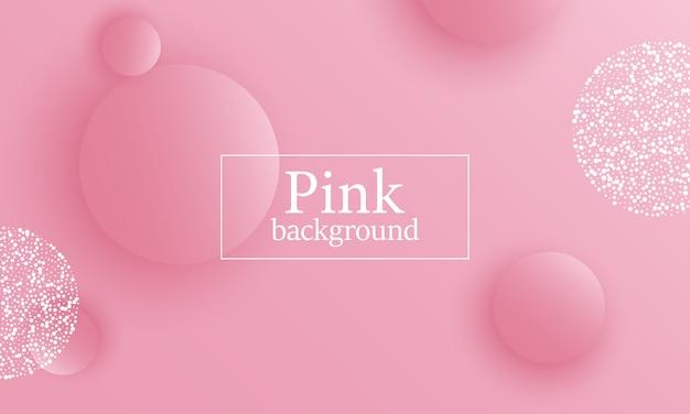 ピンクの背景。 Premiumベクター