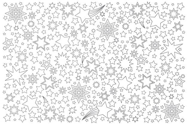 Звезды каракули набор Premium векторы